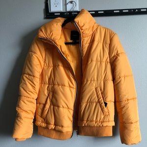 NWT F21 Yellow Puffer Jacket